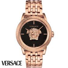 Versace VERD00718 Palazzo Empire schwarz roségold Edelstahl Herren Uhr NEU