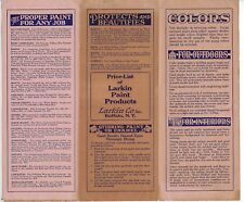 Brochure, Price List of Larkin Paint Products, Larkin Co., Buffalo, NY c1908