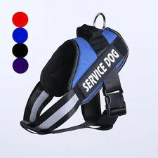 Large Dog Harness Vest W/Removable Patches Chest Plate Adjustable Collar S - XL