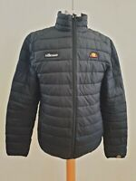 K781 MENS ELLESSE BLACK PADDED FULL ZIP CASUAL JACKET UK S EU 46