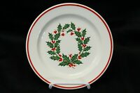 "Taylor Smith Taylor Holiday Wreath Xmas Salad Plates 7.5"" Lot of 11"