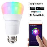15W Wifi Smart LED Light Bulb E27 B22 E26 E14 Dimmable App for Alexa Google H1O