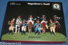 Waterloo 1815 AP090 Napoleón al personal (ex-figuras de escala 1/32 Italeri)