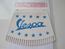VESPA REMADE METALPLAST BLUE AND WHITE MUDFLAP WITH TASSELS - TOP QUALITY