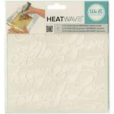"""Heatwave Stencil 7""""X7"""" Script 633356626633"""