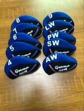 10PCS Golf Iron Covers for Taylormade M4 Club Headcovers Caps 4-LW Blue&Black