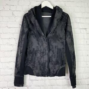 Lululemon To Class Jacket Cardigan Size 6 Sea Bed Black Deep Coal Tie Dye