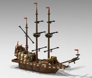 Lego Galleon ship Moc INSTRUCTIONS ONLY ldd (NOW W/ BETTER PDF!)