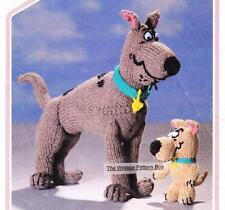 SCOOBY DOO & SCRAPPY DOO / 8ply or D.K.  - COPY toy knitting pattern