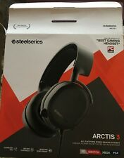 SteelSeries Arctis 3 Black Over the Ear Gaming Headset for All Platforms