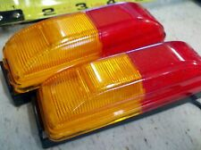 (2) Fender Mount Red/Amber Trailer Clearance Side Marker Light  FREE SHIPPING!
