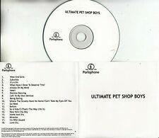 PET SHOP BOYS Ultimate 2010 UK 18-trk promo test CD