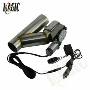 """2"""" Electric Exhaust Catback Cutoff Cut out Valve System w/ Controller Remote Kit"""
