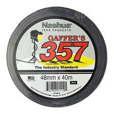 """Nashua 357 2"""" 48mm X 40m Black Gaffer Tape"""