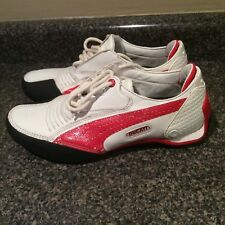 Ducati Puma Leather Shoes Women's Size 6.5 Red White EUC