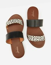Joules 210843 Leather 2 Band Sandal - NAVY DALMATION SPOT