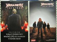 MEGADEATH 2011 THIRT3EN 2 SIDED PROMOTIONAL POSTER ~NEW~!!