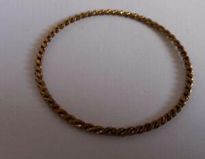 Lovely Twisted Golden Metal Styled Bangle Bracelet