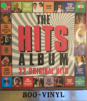 "THE HITS ALBUM-32 Original Hits 12"" LP Double Album Vinyl Record 1984 Ex + Con"