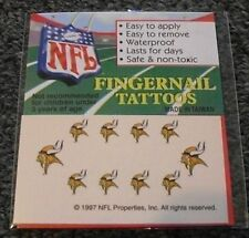 Minnesota Vikings Finger Nail Tattoos Decals New In Package Nfl