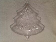 """Christmas Tree Small Glass Server/ Candy/Snack Dish""""   HOME BEAUTIFUL"""""""