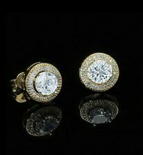 98cbd5702 14K Gold Plated Stud Earrings, Round, Made with Swarovski Crystals. New in  Box