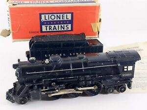 Lionel Postwar 2035 Adriatic Type 2-6-4 Steam Locomotive w/ 6466W Tender O27 O