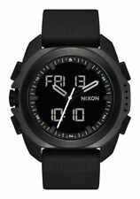 New Nixon Ripley Digital/Analog Watch Black 47mm Altimeter Temp Gauge Chrono