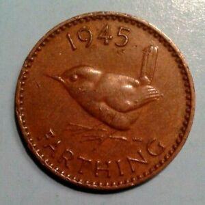 United Kingdom Farthing coin 1945