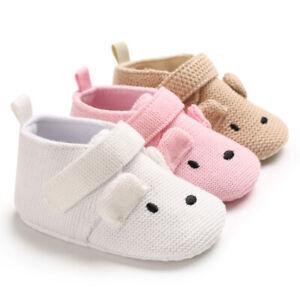 Newborn Baby Boy Girl Wool Yarn Pram Shoes Toddler First Step PreWalker Trainers