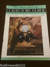 ANTIQUE & COLLECTORS GUIDE - MAY 1954 - MAIOLICA LUSTRE PERIOD