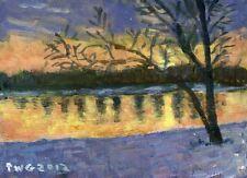 PAINTING LANDSCAPE MUNTHE WINTER SUNSET ART PRINT POSTER PICTURE LF585