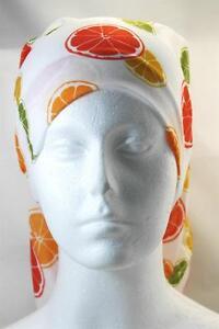 Multifunction head wrap neck tube scarf mask hat ORANGE CITRUS hair fashion