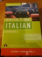 DRIVE TIME ITALIAN - LIVING LANGUAGE - NEW CD/SPOKEN WORD BOOK