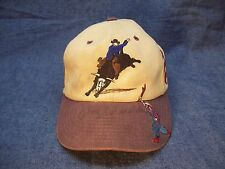 M and F Western Products Bull Rider Baseball Cap Well Worn Signed Jim Shoulders