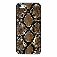 Brown Snakeskin phone case fits iPhone