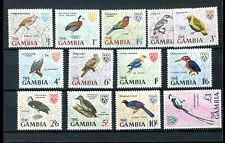 Gambia QEII 1966 Birds set of 13 SG233/45 MLH