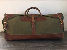 Gokey Canvas Duffle Bag Vintage Rare Orvis Battenkill Leather Hunting Emblem