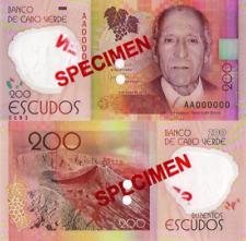 CAPE VERDE 200 (SPECIMEN) Escudos from 2014, P71s, POLYMER, UNC
