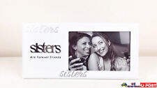 "1pc White Picture Frame Sisters ""are Forever Friends"" Birthday Gift Gki-sis1"