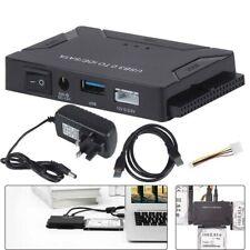 """USB 3.0 zu IDE/SATA Konverter Externe Festplatte Adapter 2.5"""" 3.5"""" Kabel EU Plug"""