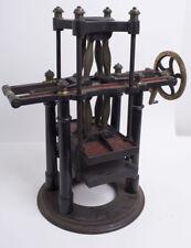 A Bronze Bell Lab Specimen Press Machine c.1800's. Size 17 1/8 inches high x 15