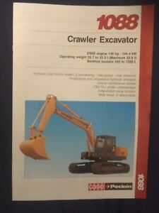 Case Poclain 1088 Crawler Excavator Brochure