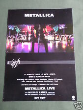 METALLICA - MAGAZINE CLIPPING / CUTTING- 1 PAGE ADVERT