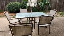 Patio Furniture, Aluminum Glass Table 6 Charis & Swing