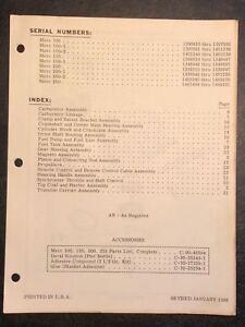 1966 Mercury Merc 100, -1, -2, 150, 200, 250 Outboard Motor Parts Manual Catalog