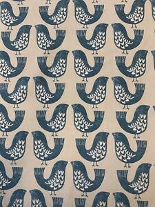 SMD Iliv Scandi Birds Capri Cotton Print Fabric By The Metre