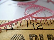 "price for 1 yard Pink//Fern Loops Rose Braid 3//8/"" trim"