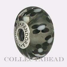 Authentic Pandora Sterling Silver Black Murano XL Glass Bead 790752  *RETIRED*