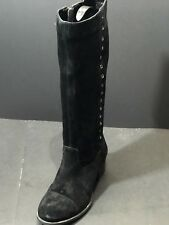 Hush Puppies Women's Ideal Nellie Boot Black Suede Size US 9.5 W